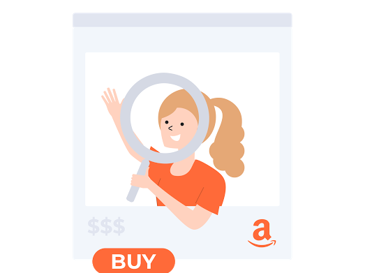Person with Amazon Cart