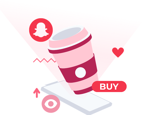 Cofee with snapchat logo